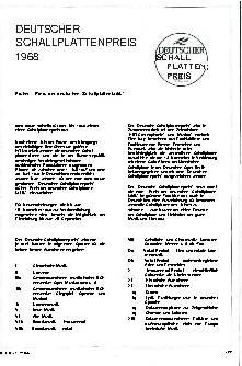 Deutscher Schallplattenpreis 1968
