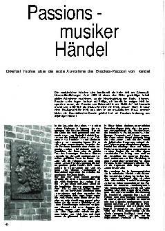 Passionsmusiker Händel