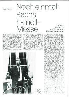 Noch einmal: Bachs h-moll-Messe