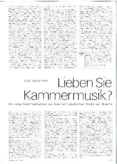 Lieben Sie Kammermusik?