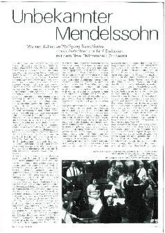 Unbekannter Mendelssohn