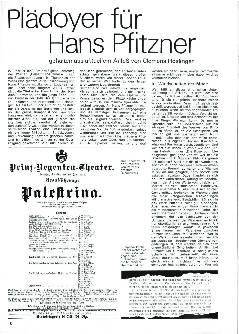 Plädoyer für Hans Pfitzner