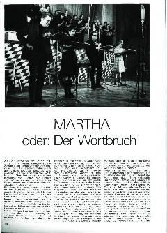 Martha oder: Der Wortbruch