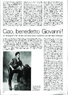 Ciao, benedetto Giovanni!