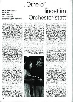 Othello findet im Orchester statt