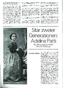 Star zweier Generationen Adelina Patti