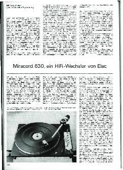 Miracord 630, ein HiFi-Wechsler von Elac