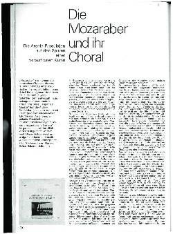 Die Mozaraber und ihr Choral