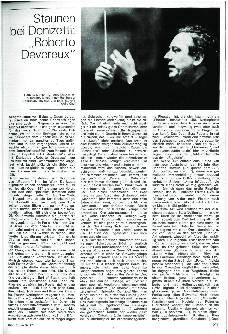Staunen bei Donizetti: Roberto Devereux