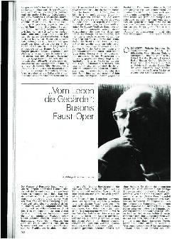 Vom Leben die Gebärde: Busonis Faust-Oper