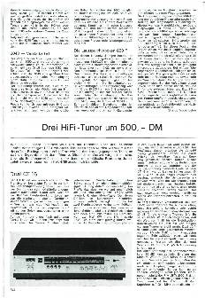 Drei HiFi-Tuner um 500 DM