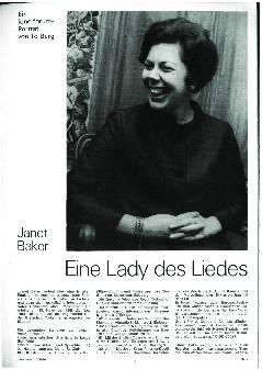 Eine Lady des Liedes
