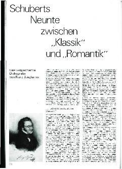 Schuberts Neunte zwischen Klassik und Romantik