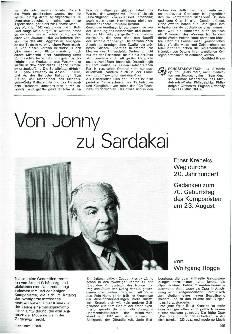 Von Jonny zu Sardakai