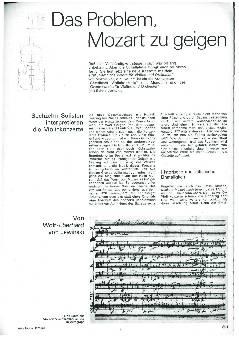 Das Problem, Mozart zu geigen