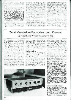 Zwei Verstärker-Bausteine von Crown: Vorverstärker IC 150 und Endstufe DC 300