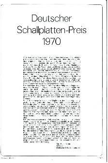 Deutscher Schallplatten-Preis 1970