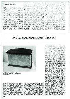 Das Lautsprechersystem Bose 901
