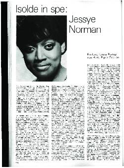 Isolde in spe: Jessye Norman