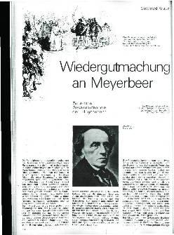 Wiedergutmachung an Meyerbeer