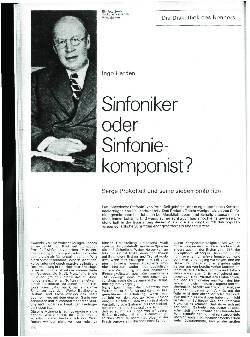 Sinfoniker oder Sinfoniekomponist?