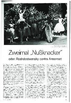 Zweimal Nussknacker oder: Roshdestwensky contra Ansermet