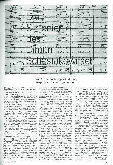 Die Sinfonien des Dimitri Schostakowitsch