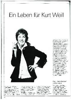 Ein Leben für Kurt Weill
