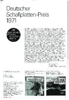 Deutscher Schallplattenpreis 1971