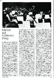 Mahler auf mittlerem Weg