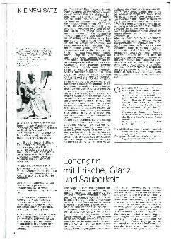 Lohengrin mit Frische, Glanz und Sauberkeit