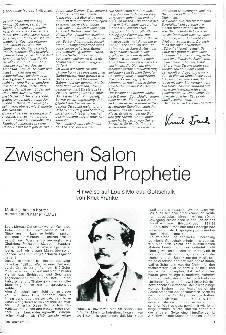 Zwischen Salon und Prophetie