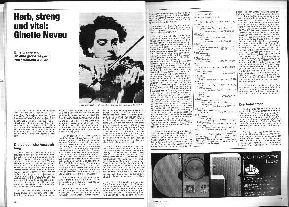 Herb, streng und vital: Ginette Neveu