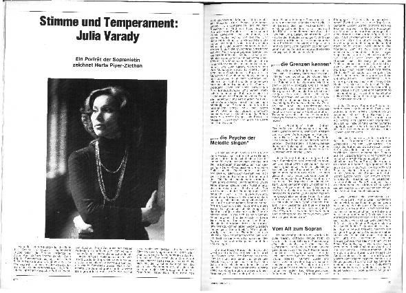 Stimme und Temperament: Julia Varady