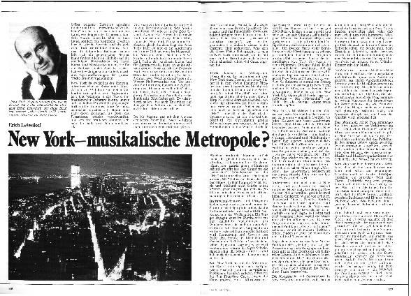 New York - Eine musikalische Metropole?