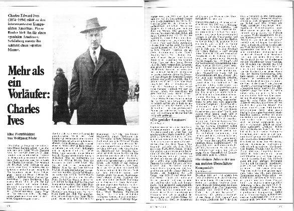 Mehr als ein Vorläufer: Charles Ives