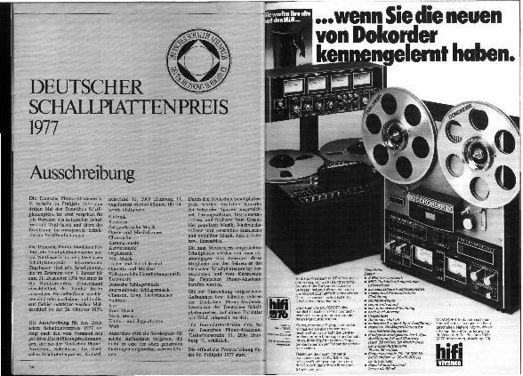 Deutscher Schallplattenpreis 1977 - Ausschreibung