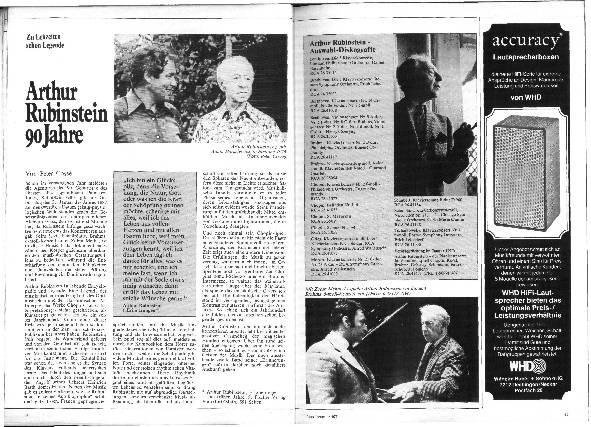 Arthur Rubinstein 90 Jahre