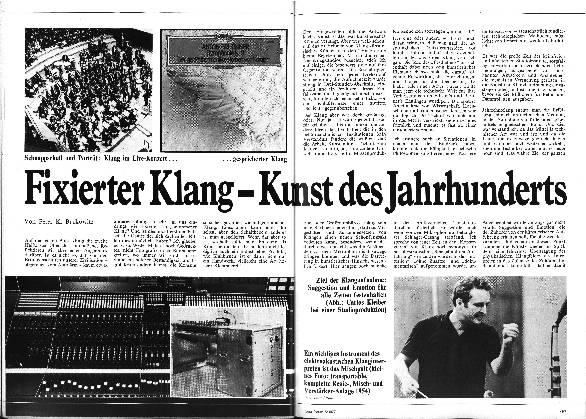 Fixierter Klang- Kunst des Jahrhunderts
