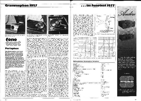 Grammophon1927 im Fono-Test 1977