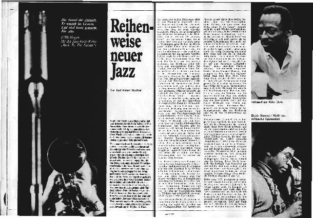 Reihenweise neuer Jazz