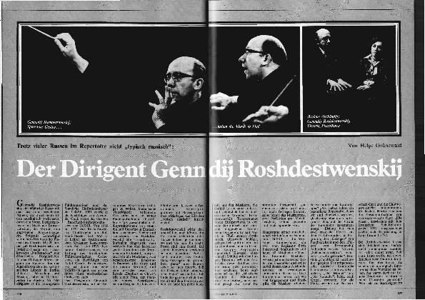 Der Dirigent Geennadij Roshdestwenskij