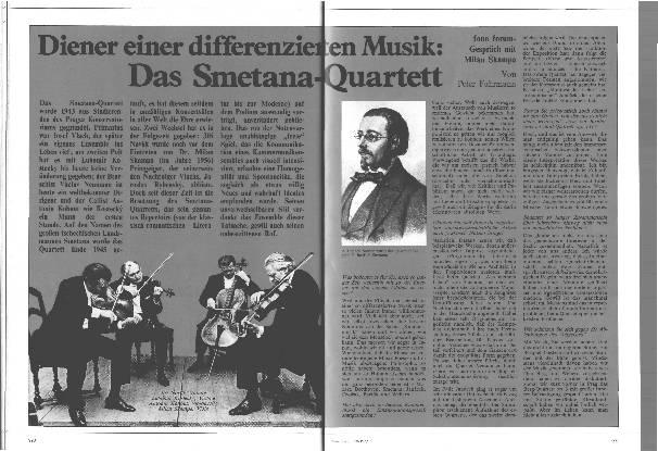 Diener einer differenzieren Musik: Das Smetana-Quartett
