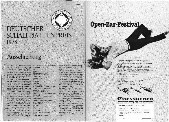 Ausschreibung Deutscher Schallplattenpreis 1978