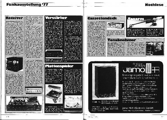Nachlese der Funkausstellung 1977