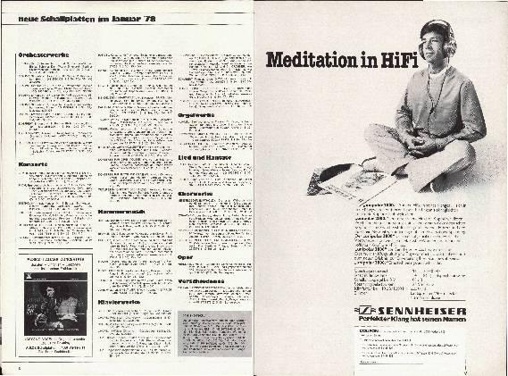 Neue Schallplatten im Januar '78
