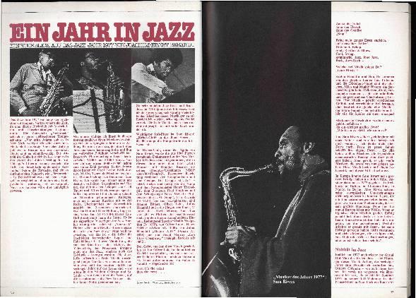 Ein Jahr in Jazz