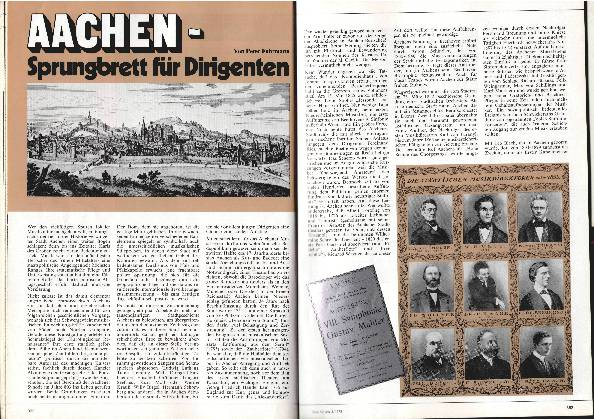 Aachen - Sprungbrett für Dirigenten