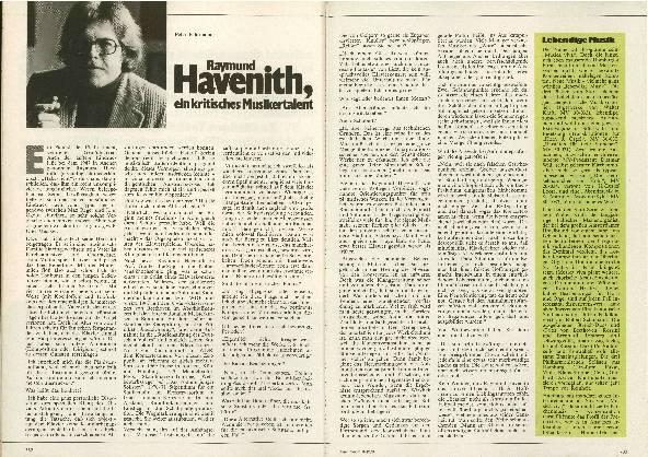 Raymund Havenith, ein kritisches Musikertalent