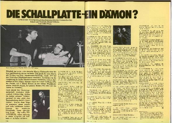 Die Schallplatte - ein Dämon?